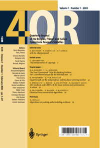 4OR - A Quarterly Journal of Operations Research