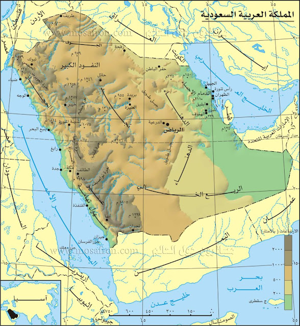 خريطة السعودية Saudi Arabia Map
