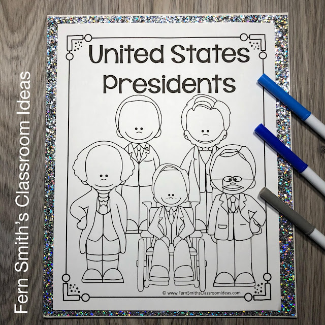 United States Presidents Class Project for 2nd Grade and 3rd Grade #FernSmithsClassroomIdeas
