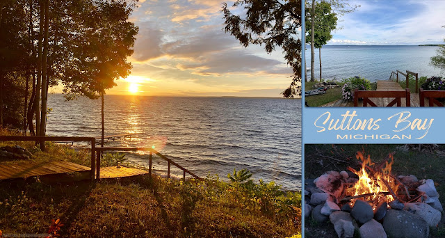 A cottage rental on Suttons Bay, Mi was perfect for beautiful, peaceful lake views and quiet campfire nights