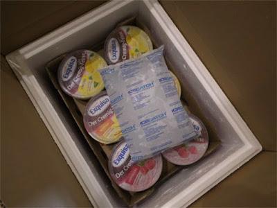 Kühlpaket geöffnet