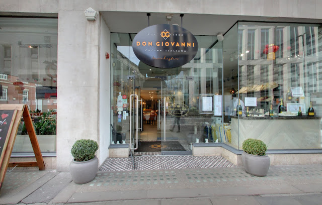 Don Giovanni Restuarant Manchester Greater Manchester UK Gluten Free Options