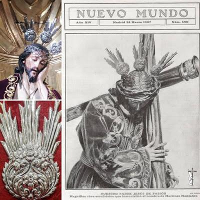 El Señor de Pasión de Sevilla recupera un conjunto de antiguas potencias en plata