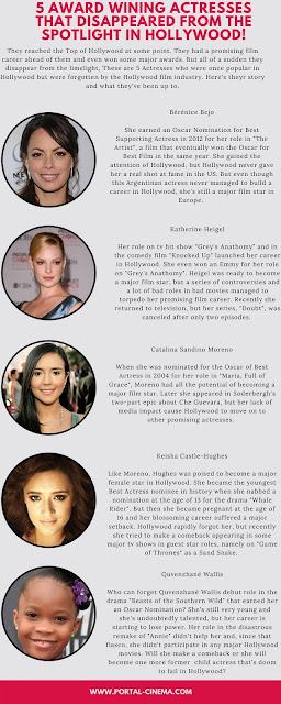 5 Atrizes Premiadas A Quem Hollywood Virou as Costas!