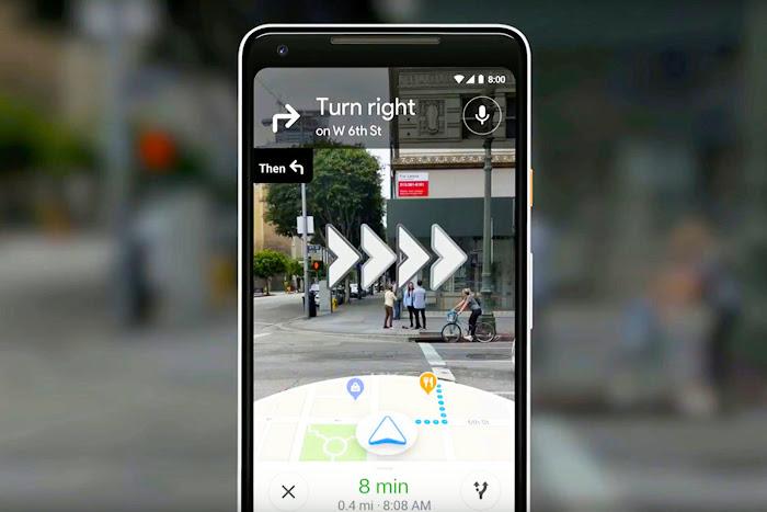 La navigation en réalité augmentée arrive dans Google Maps