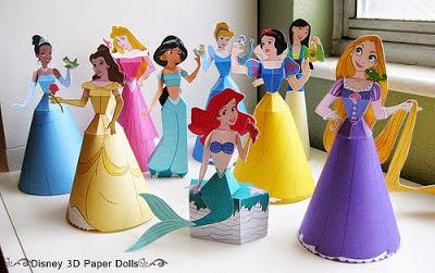 Blog Cantinho Alternativo Princesas Disney 3d Para Imprimir