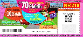 19-03-2021 Nirmal kerala lottery result,kerala lottery result today 19-03-21,Nirmal lottery NR-216,kerala todays lottery result live