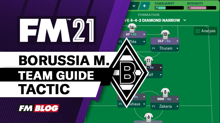 FM21 Borussia Monchengladbach 4-4-2 Diamond Narrow - Tiki-Taka Tactic   Team Guide
