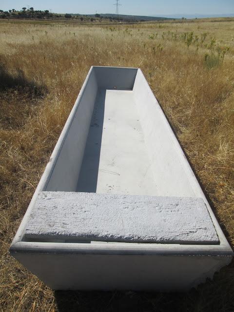 foto bebedero agua ganado de hormigón de 5 m en campo