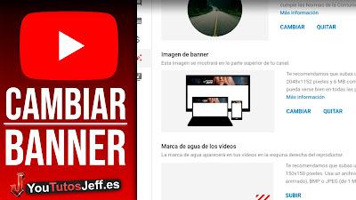 poner banner en youtube desde telefono