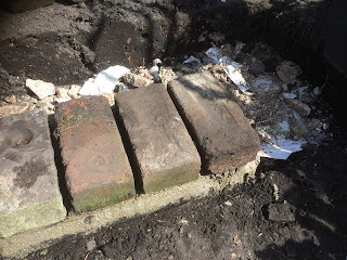 Brick steps, garden steps, life on pig row