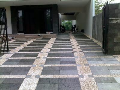 Jasa batu sikat Gambar Lantai Batu Alam Outdoor