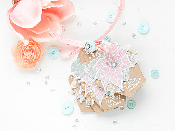 Holiday Wishes - Altenew + Papertrey Ink | No-Mess Glittering | Delicate Series