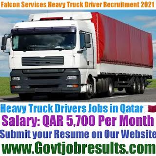 Falcon Services Heavy Truck Driver Recruitment 2021-22