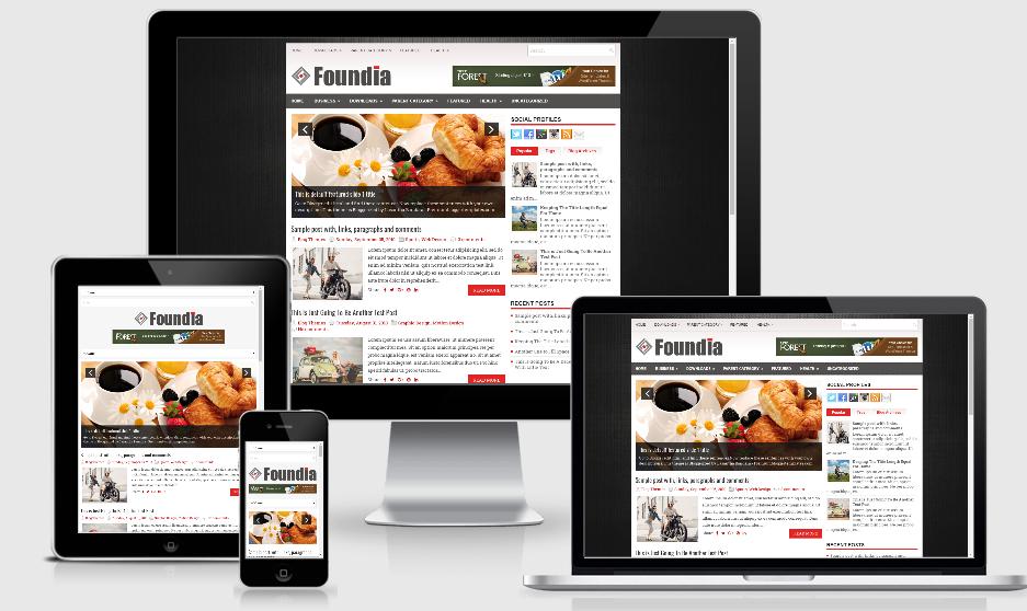 Giao diện blogger Foundia