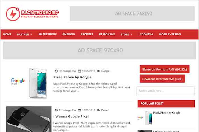 Blanterdeamp Blogger Template Free Download