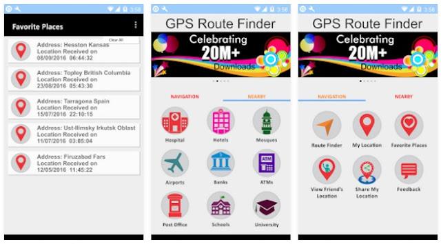 تطبيق مجاني للبحث عن الطرق وتحديد المواقع GPS Route Finder