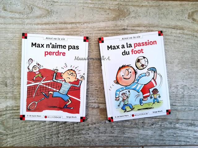 || Sélection de livres sur le sport - Max n'aime pas perdre - Max a la passion du foot
