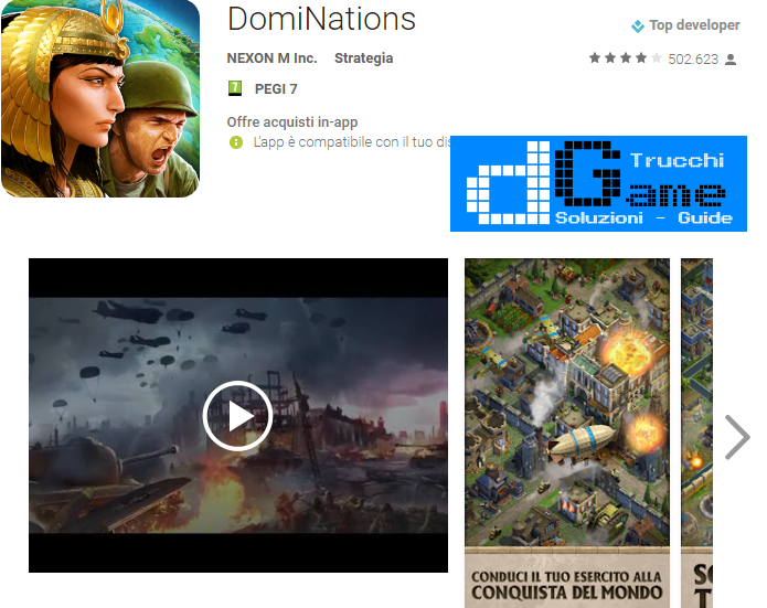 Trucchi DomiNations Mod Apk Android