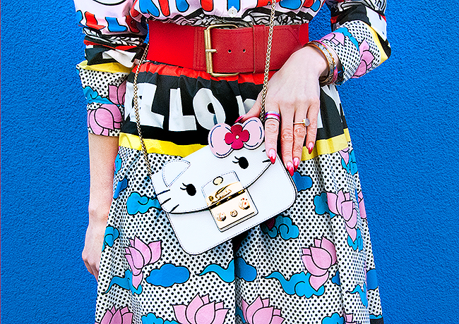 Sara is in Love with… Swiss Fashion blogger European style influencer pink hair chinese fashion mukzin hello kitty asos furla swarovski pink hair beret comic girl asia