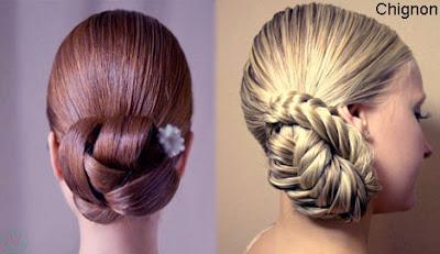 chignon, chignon hairstyle