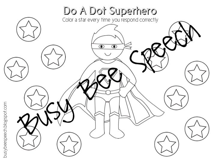 Busy Bee Speech: Superhero Comic Book Companion Pack!