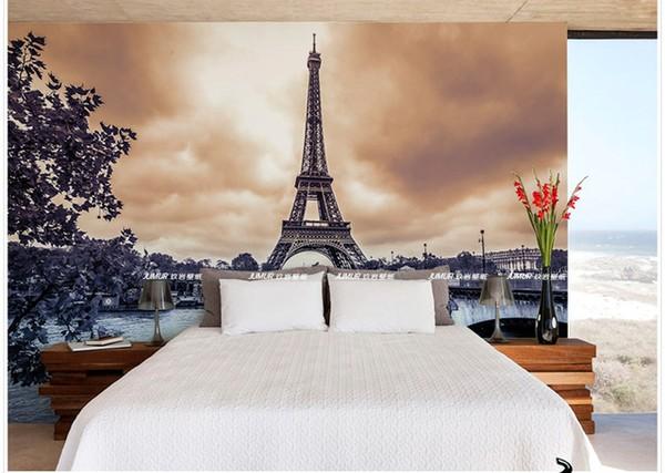 Tapetti Kaupunki Paris valokuvatapetti Pariisi Eiffel-torni romanttinen tapetti makuuhuoneen tapetit rahasto stadsmotiv
