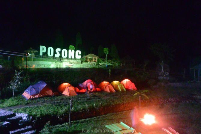 Suasana kala malam hari di Posong