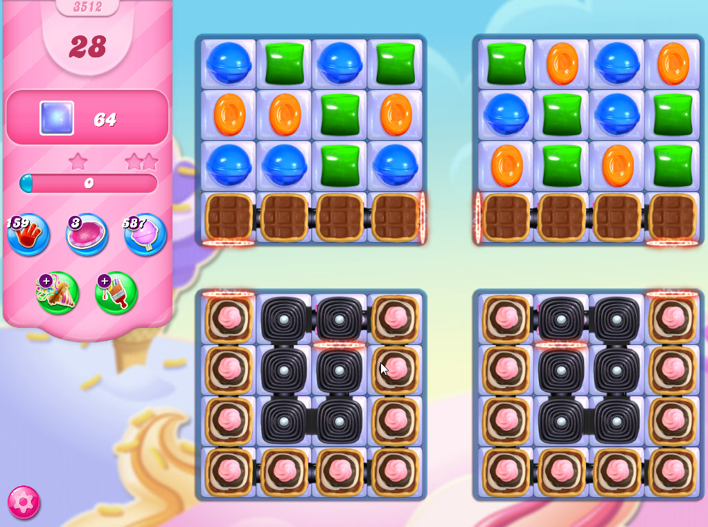 Candy Crush Saga level 3312