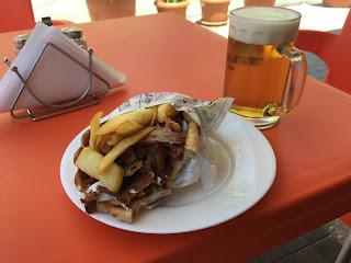 Pitakebab ja olut