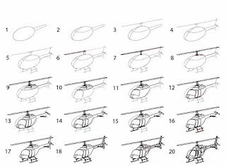 رسومات-اطفال-جميلة-وسهله-طريقة-رسم-طائرة-هليوكوبتر-how-to-draw-helicopter-Plane