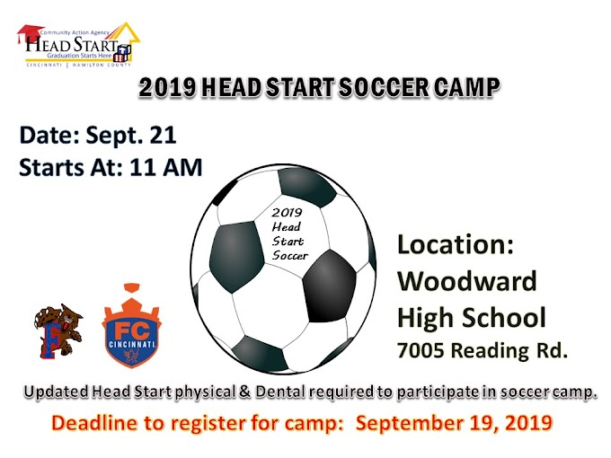 Head Start Soccer Camp Starts September 21, 2019 (Register by September 19, 2019)