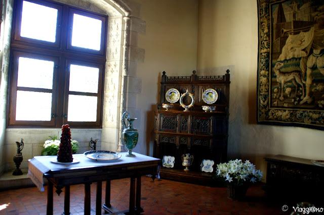 La Sala del Coppiero all'interno del Palazzo Reale di Amboise