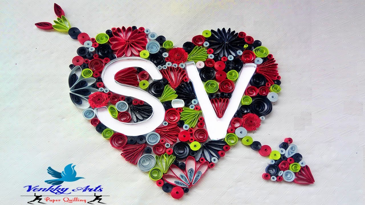 Quilling Heart Love Letters Sv Design Paper Quilling Art