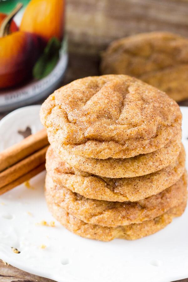 Pumpkin Spice Cookies #desserts #cookies #pumpkin #bars #cakes