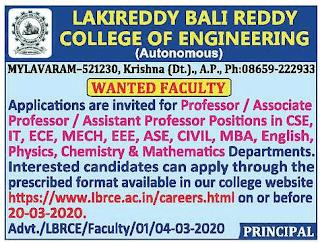 Lakireddy Balireddy College of Engineering