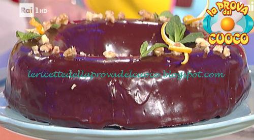 Ciambella noci e cioccolato con glassa golosa ricetta Barzetti da Prova del Cuoco