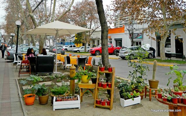 Rua do Bairro Itália, em Santiago do Chile
