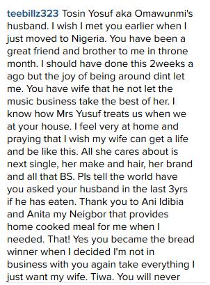 Tiwa savage Marriage crash