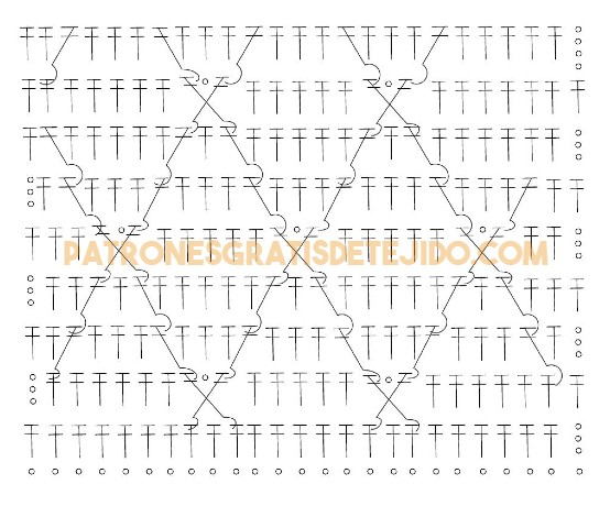 diagrama-punto-fantasia-crochet-con-diamantes