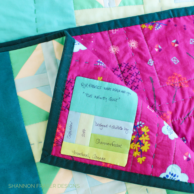 Plus Infinity Quilt Label | DIY Quilt Label | Easy Tips of Quilt Label Success | Shannon Fraser Designs | Modern Quilting |