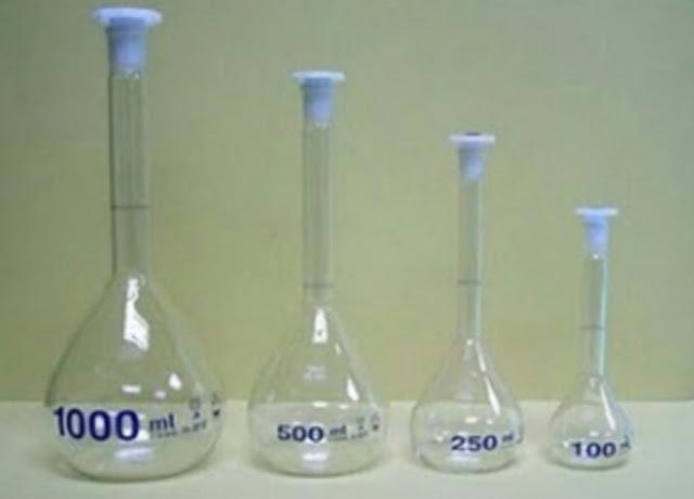Cara menggunakan gelas ukur labu