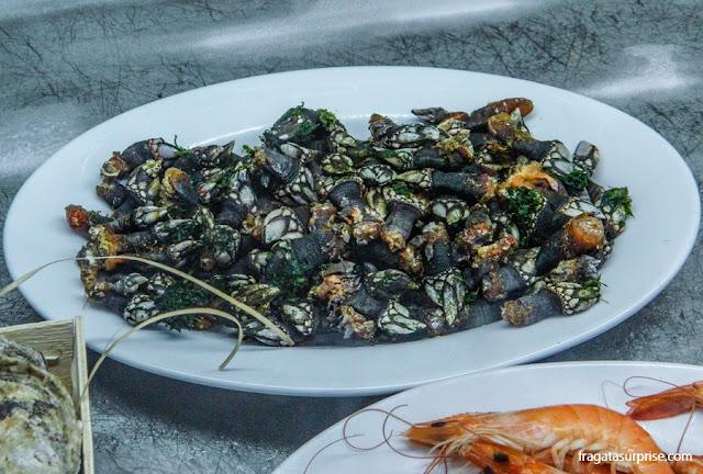 comida típica de Portugal: percebes