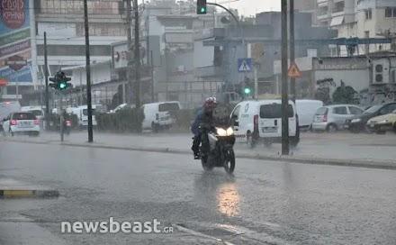 Κακοκαιρία Μπάλλος: Πλημμύρισε η Πειραιώς – Κλειστή σε δύο σημεία