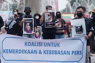 Ratusan Jurnalis di Palembang Kecam Kekerasan Terhadap Jurnalis 1