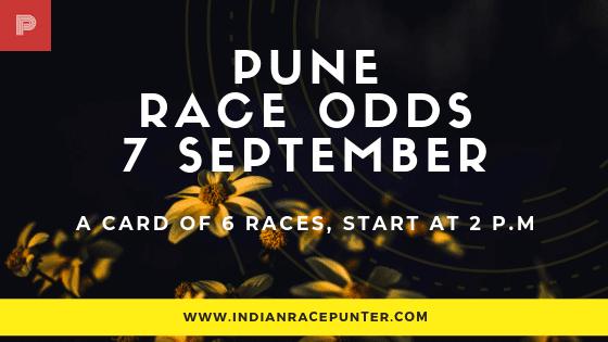 Pune Race Odds 7 September