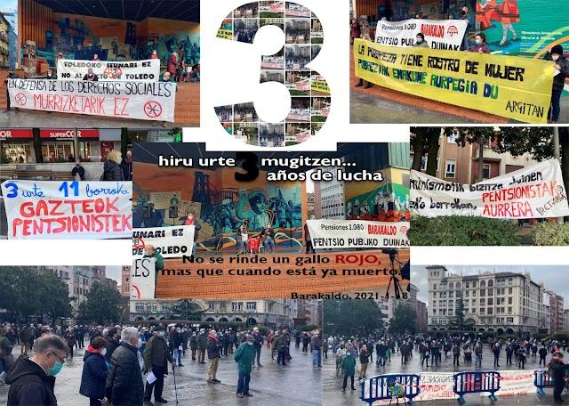 Concentración del Movimiento de Pensionistas en Barakaldo