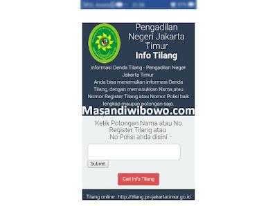 web resmi tilangan