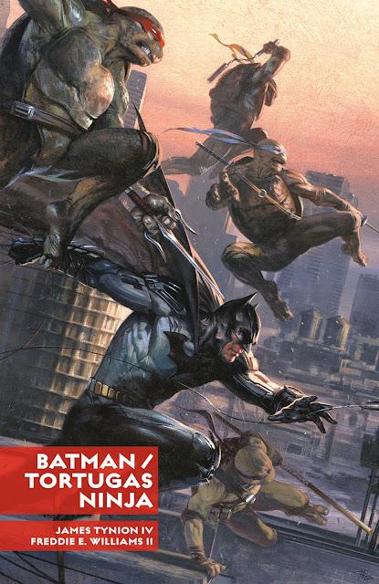Reseña de BATMAN/TORTUGAS NINJA de James Tynion IV y Freddie Williams II, ECC Ediciones