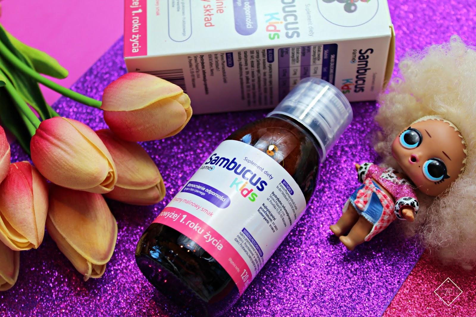 SAMBUCUS KIDS - naturalny syrop z czarnego bzu wspierający odporność dzieci